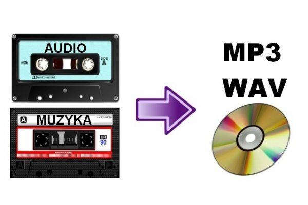 kaseta magnetofonowa do mp3 lub cd